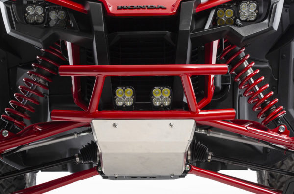 side by side front bumper red lights
